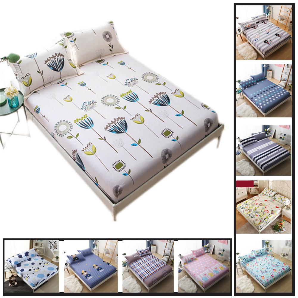 3 PCs 100  Cotton Fitted Sheet Anime Bed Sheets Cotton Mattress Cover 2  Pillowcase Queen King Size 23colors Freeshipping On Sale in Bedding Sets  from Home. 3 PCs 100  Cotton Fitted Sheet Anime Bed Sheets Cotton Mattress