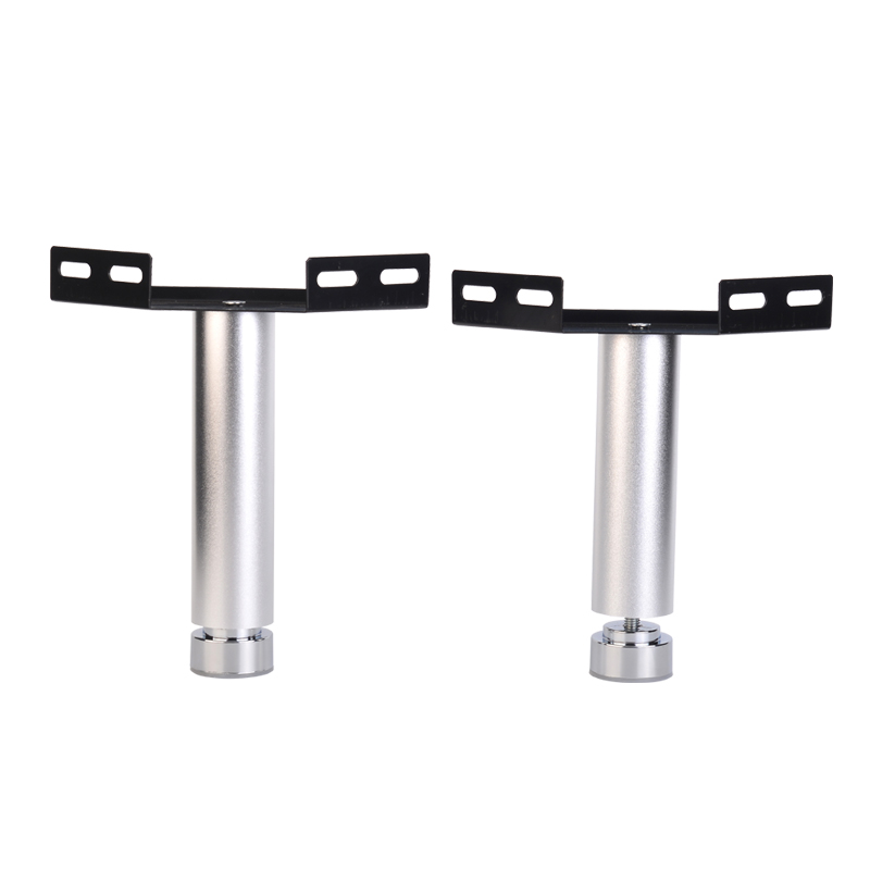 1pc 100mm-30mm Furniture Cabinet Legs Aluminum Alloy Round Tube Bed Foot Adjustment 80mm With Corner Code Connection Hardware