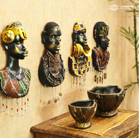 Free Shipping African Resin Wall Act The Role Ofing Sitting Room Creative Hanging Wall Act The
