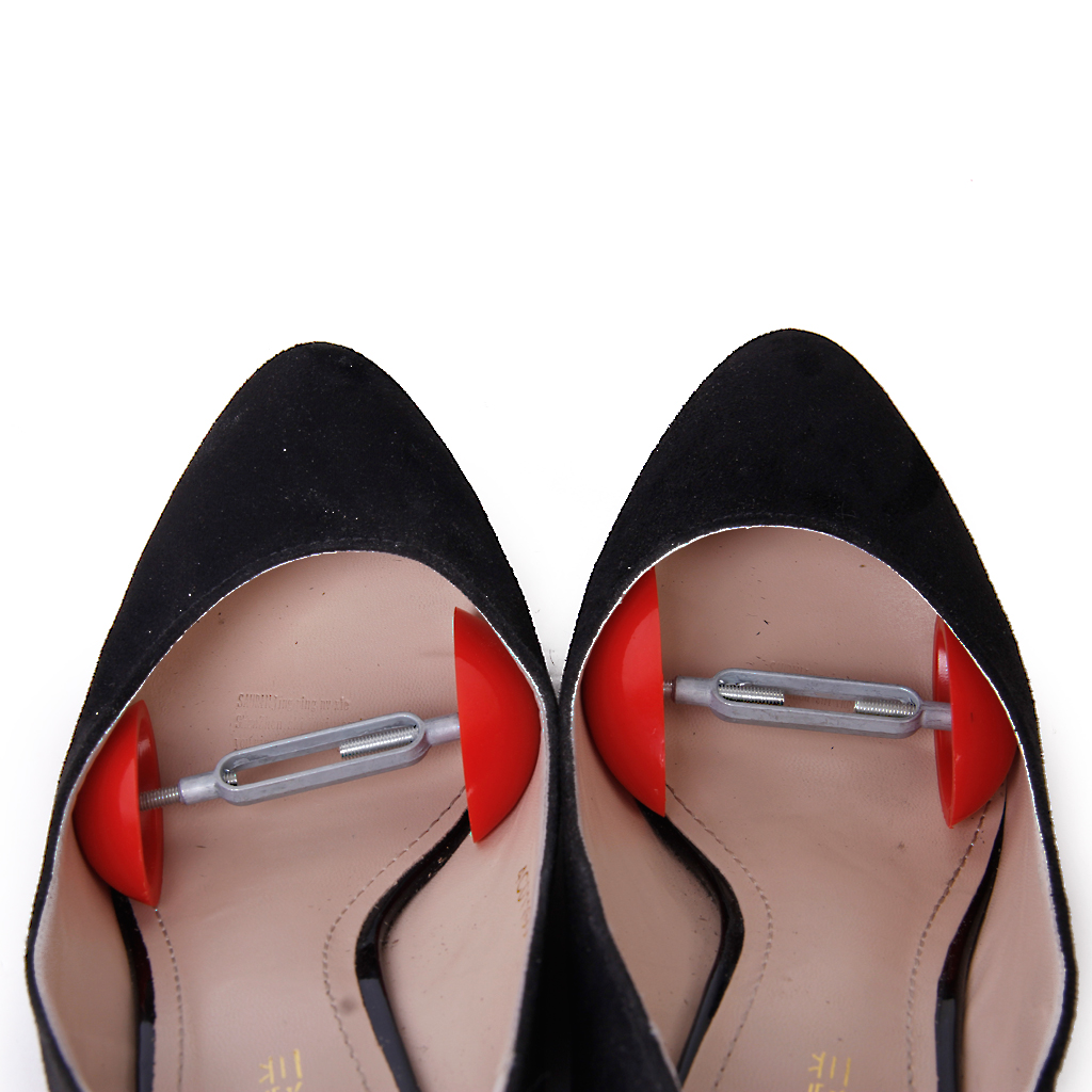 Pack Of 2 Pcs Footful Mini Shoe Stretchers Shapers Width Extenders Adjustable Shoe Trees For Mens Womens Red