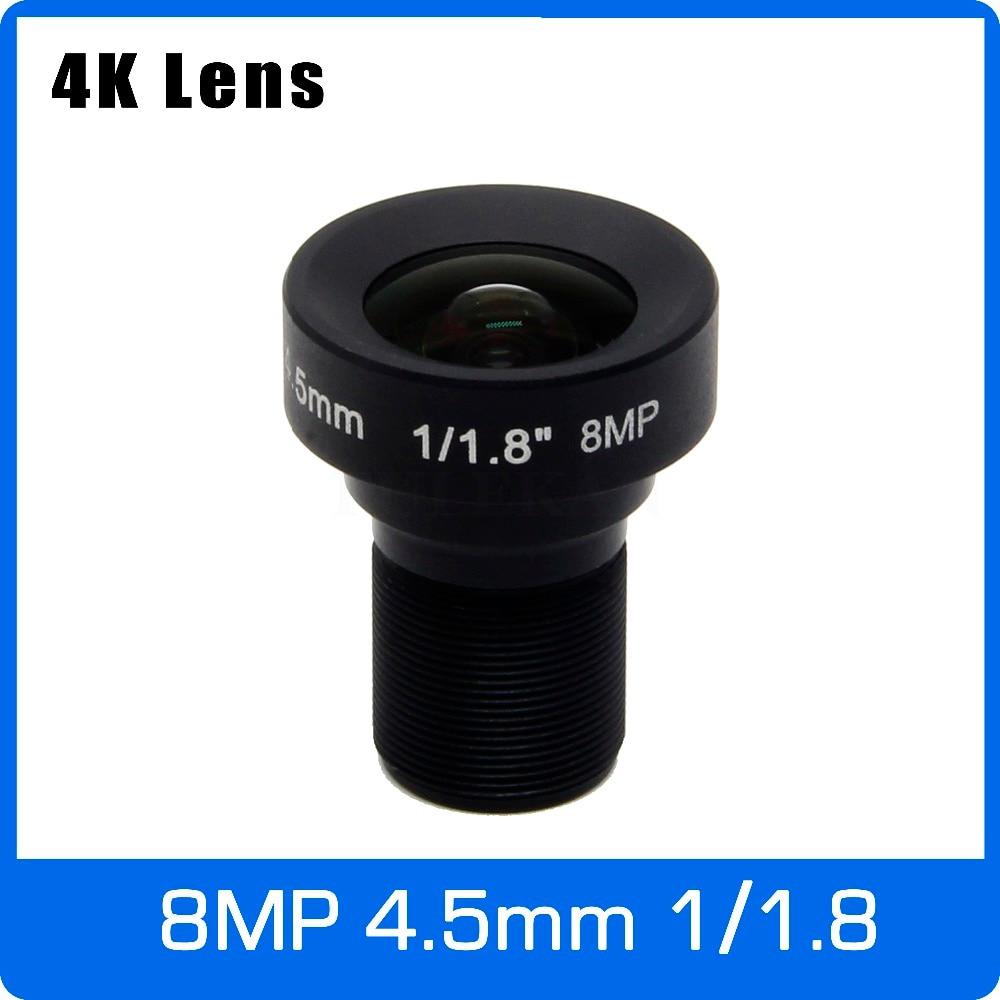 4 k Lentille 8 Mégapixels Fixe M12 Objectif 4.5mm 105 Degrés 1/1. 8 pouce Pour OS08A10/IMX226 IMX178 4 k IP CCTV Caméra Livraison Gratuite