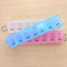 2017 Biggest sell  7 Days Weekly Tablet Pill Medicine Box Holder Storage Organizer Container Case Pill Box Random Color