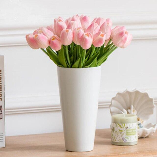 10pcs Pu Tulip Artificial Flowers For Wedding Decoration Living Room