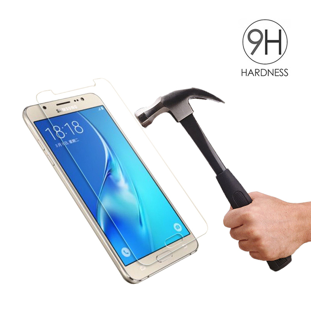 Protective Glass on the For Samsung Galaxy J3 J5 J7 A3 A5 A7 2015 2016 2017 A6 A8 Plus 2018 Tempered Screen Protector Glass Film 2