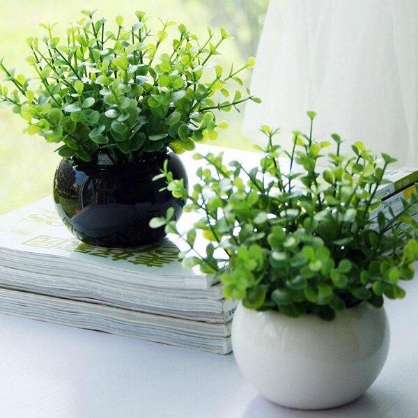 Trendy Hadiah Pesta Pernikahan Bridal Tanaman Taman Buatan Hijau Daun  Tanaman Anggrek Sale Floral Home Decor e01d955d34