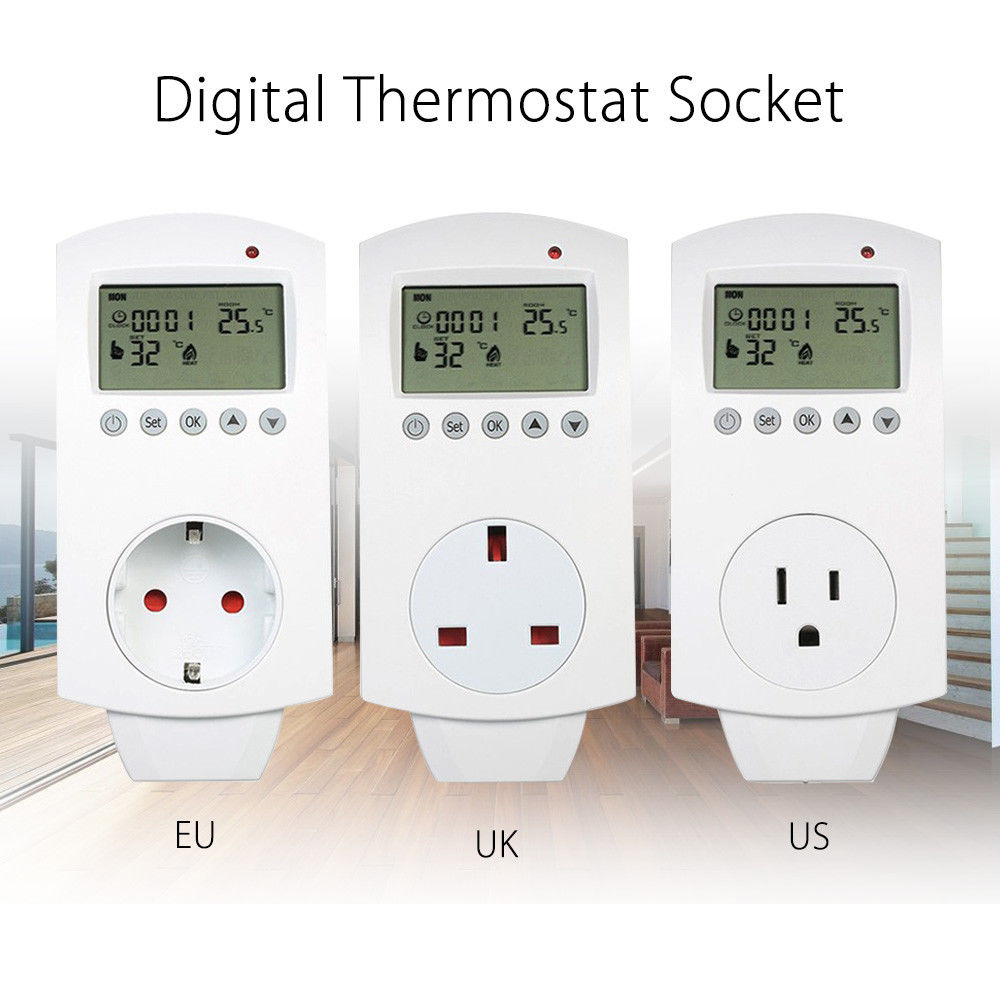 все цены на SEESII HY02TP LCD Display Digital Infrared Heater Temperature Controller Floor Heating Thermostat White 24-Hour Cycle Protection онлайн