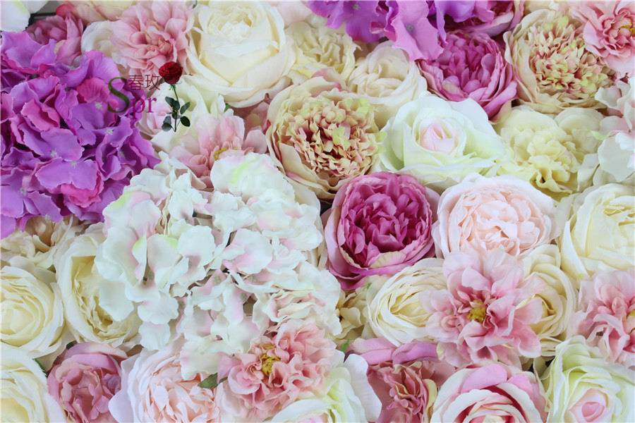 SPR Free Shipping magic 3D flower wall wedding backdrop artificial flower row and arch decorative florer|Artificial & Dried Flowers| |  - title=