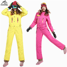 SAENSHING Ski suit Women Winter suit Waterproof Ski Jacket warm Women's ski suit One Piece Jumpsuit Snow Skiing snowboard jacket