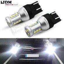 iJDM 7443 LED CANBUS No Error 7443 T20 W21W LED Bulb for 2009 2016 Fiat 500 Daytime Running Lights 6000K White Red Yellow 12V