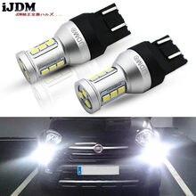 IJDM – ampoule 7443 LED CANBUS sans erreur 7443 T20 W21W LED, pour feux de jour Fiat 2009 2016 500 K blanc rouge jaune 12V