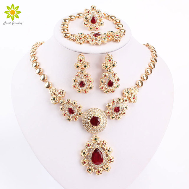 Fine Jewelry Sets For Women Wedding Accessories African Beads Party Gift Gold Co