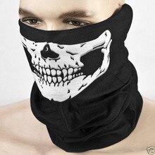 Убор скелет призрак головной шея нескольких череп хэллоуин шляпа половина шарф