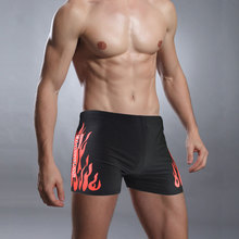 Swimwear Men Briefs Sexy Fire Burning Swimming Suit Trunks Beach Wear Bathing Surfing beach male Pants Boxer Shorts