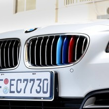 2016 NEW 3D M Car Styling Front Grill Trim Strips Sticker For BMW 3 4 5 5GT Series X1 X3 X4 X5 X6 F10 F18 F30 F35 F48 F25 F26
