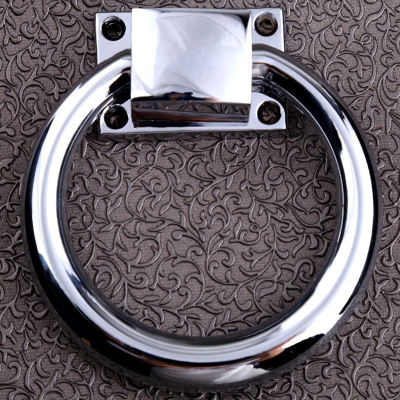 100mm modern simple silver chrome safas wooden chair drop rings handles retro style bronze shaky rings wooden door pulls solid