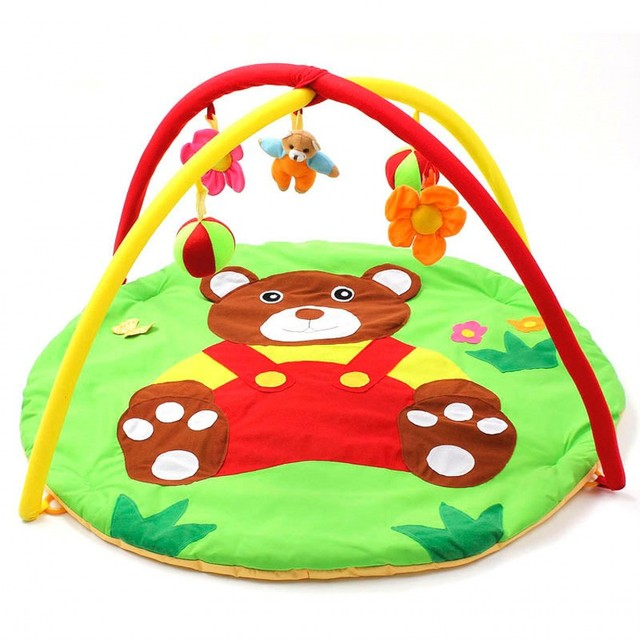 Divertido Urso Crianças Tapetes de Jogo Do Bebê Brinquedo Do Bebê 0-1 Anos Esportes Do Bebê interior Macio Rastejando Almofada Musical Ginásio Atividade Jogar cobertor