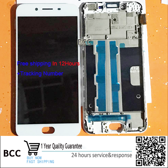 Подробнее о Original 5.5'' LCD Display and Touch Screen Digitizer with frame For OPPO R9S Test ok+Free Tracking No. 9 7 for ipad air2 for ipad6 lcd display screen touch screen digitizer test ok tracking code 2048x1536 resolution
