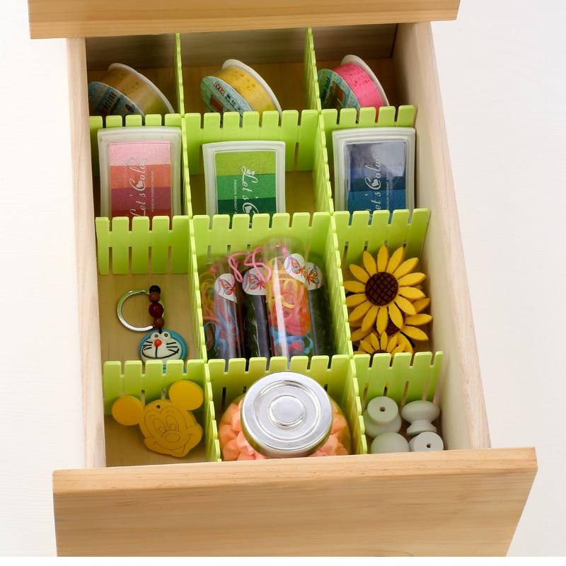 4 шт. много DIY утолщенной Кухня разделов хранения Отделочные полка ящика делитель плиты