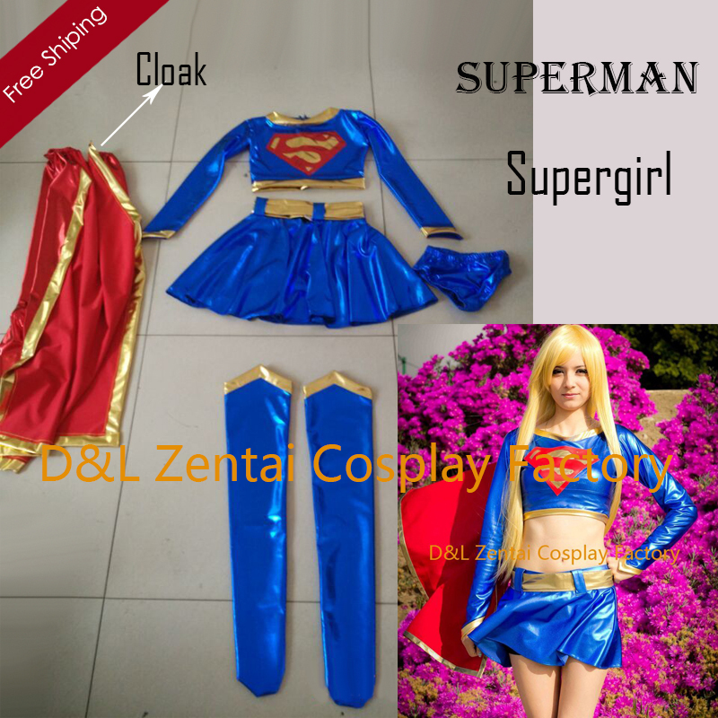 Qualified Supergirl Kara Zor-el Danvers Costume Cape Cosplay Costume Halloween Carnival Costumes Tailor Made Excellent Quality Anime Costumes