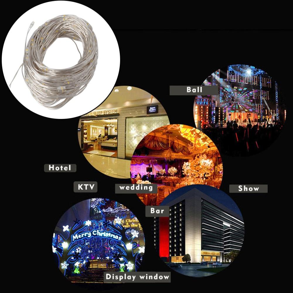 Творческий декоративные огни строки 10 м 100 светодиодный Рождественские огни строку фестиваль вечерние Фея огни строки Горячая