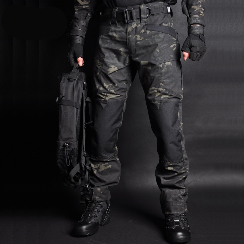 MEGE Men Jogger Tactical Pants Camouflage Military Cargo Sweatpants Loose Camo Casual Trousers Joggers Pantalones Tacticos XXXL