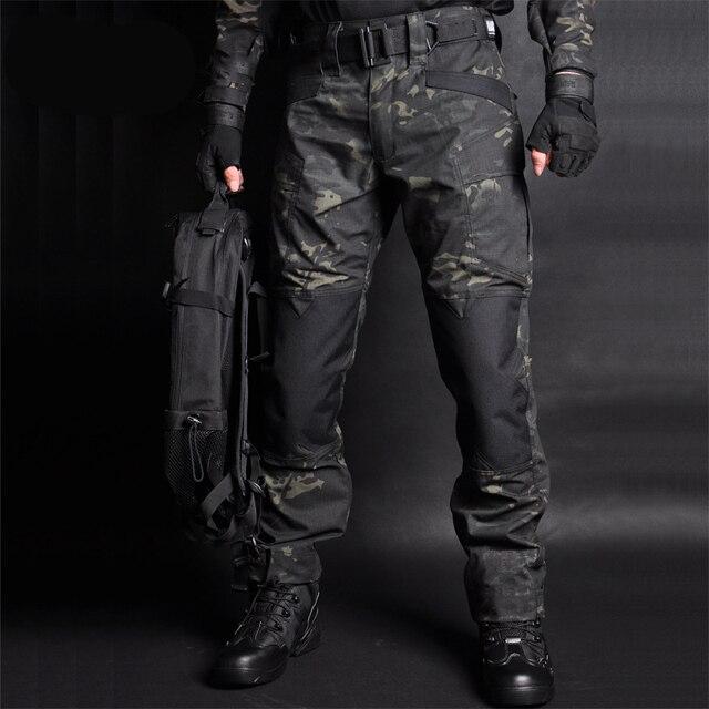 Mega erkekler Jogger taktik pantolon kamuflaj askeri kargo Sweatpants gevşek Camo günlük pantolon Joggers pantalones tacticos XXXL