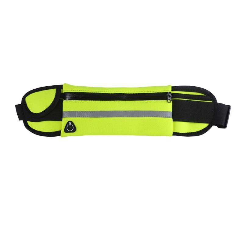 2019 New Men Women Gym Fitness Pocket Waterproof Sports Waist Bag Pack Belly Belt Bag Outdoor Running Waist Bags Simple Solid