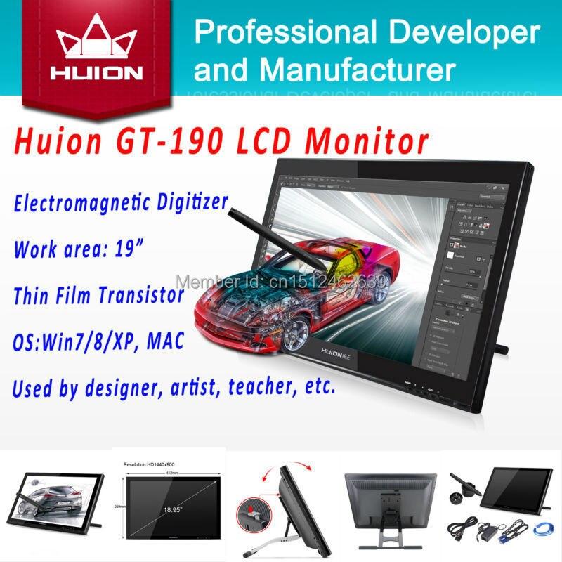 Pen Display Monitor Huion GT-190 Interactive HD LCD Monitor Handwriting Panel Digital Graphic Monitor Animation Drawing Monitors