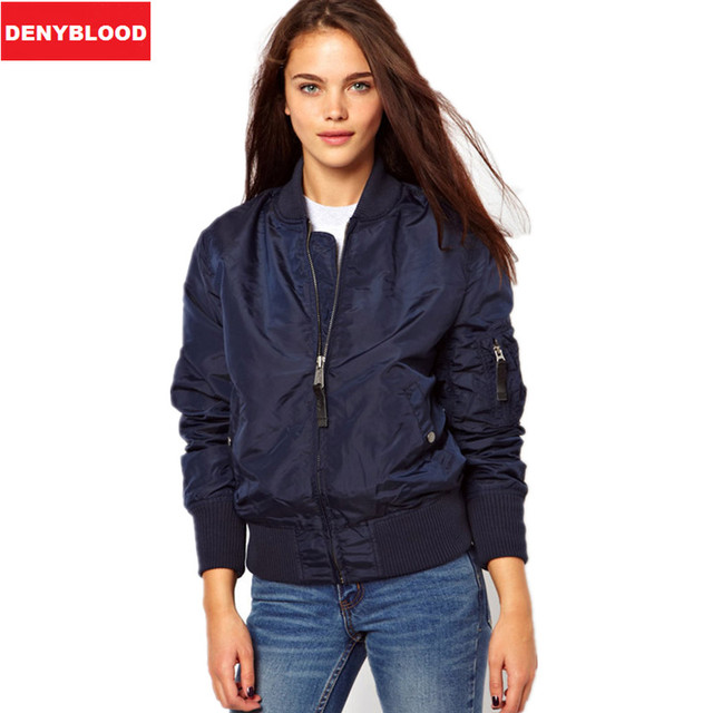 Lady Thin Womens Army Green Flight Bomber Jackets Ma1 Military ...