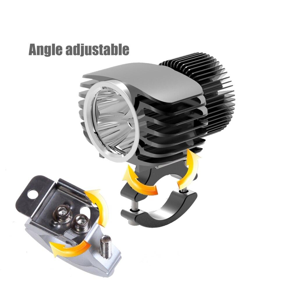 Bosmaa 18W Motocicleta LED Farol Car Fog DRL Farol Caça Holofotes Condução Spot led luz intermitente luz 2Pcs com Fios - 3