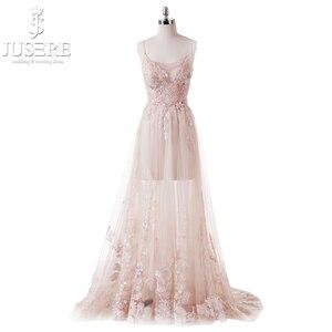 Image 1 - Vestido De fiesta rosa claro, flor princesa Hada, transparente, tirantes finos, lentejuelas, cuentas