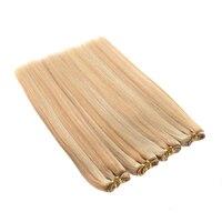 Peruvian Straight Hair P27/613 Blond Ombre Remy Human Hair Extensions Two Tone Hair Weave Bundles 1 Piece 100% Human Hair BOL