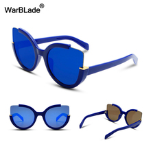 New Fashion Flat Top Cat Eye Sunglasses Women Men Luxury