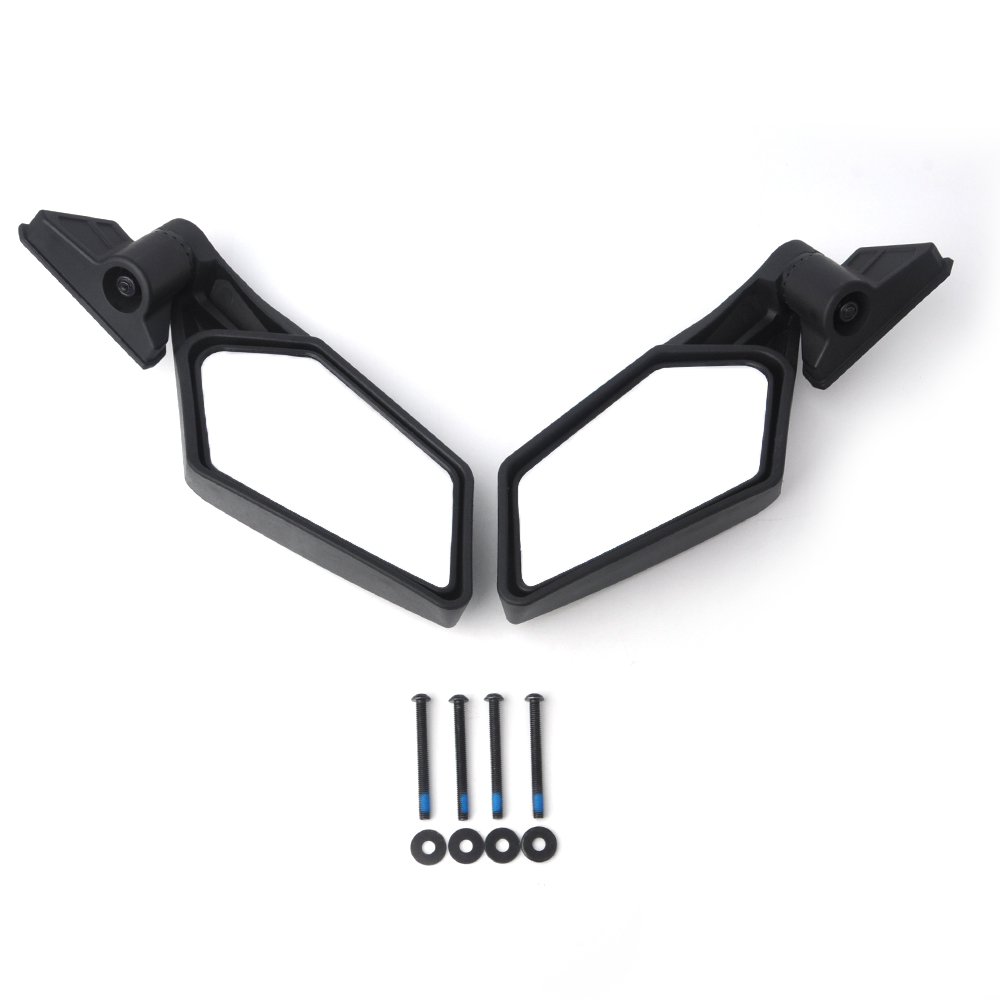 Left Right UTV Side View Mirrors Rearview Mirror Adjustable for Can Am Maverick X3 for Suzuki