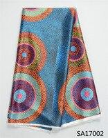 Layla Digital Satin Silk Fabric Anti Pilling Nigerian Design African Wax Pattern Stretch Satin Fabric For