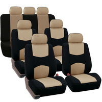 Universal Car Front Seat Covers Protect Cover Polyester Four Seasons Washable Auto fit for SUV Van Truck Bus