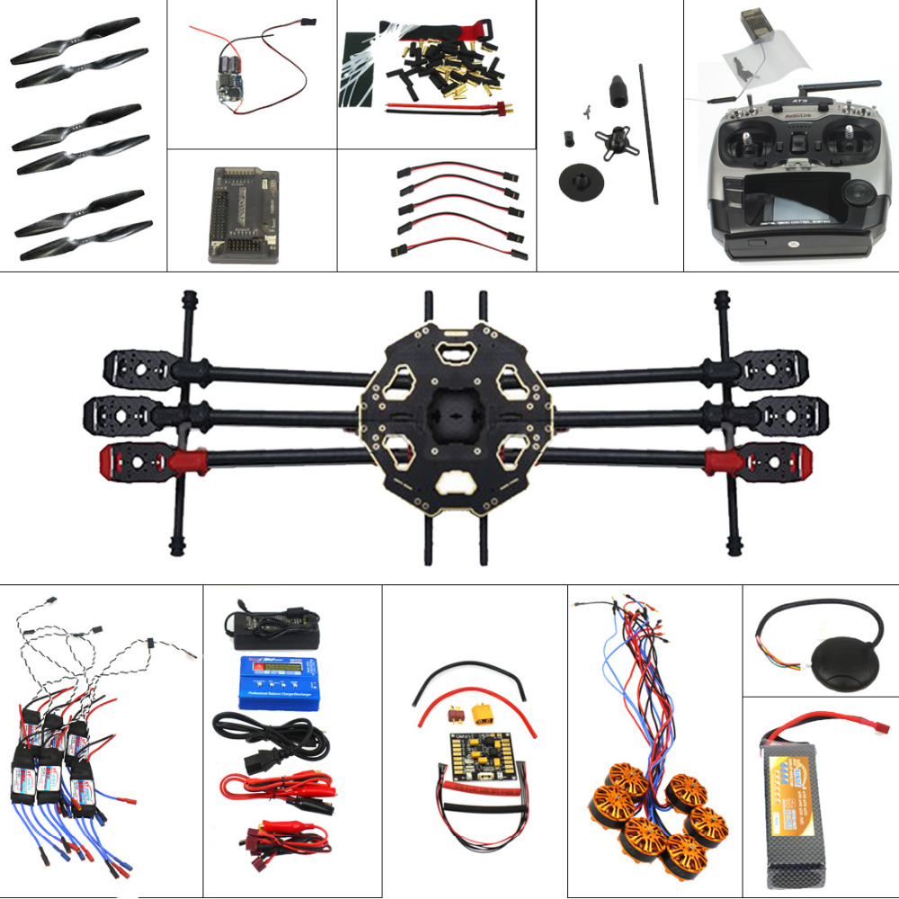 F07807-C 6-axis Aircraft Kit Full Set Helicopter Drone Tarot 680PRO Frame 700KV Motor GPS APM 2.8 Flight Control AT9 Transmitter full helicopter drone aircraft kit tarot 680pro frame 700kv motor gps apm 2 8 flight control at10 transmitter f07807 a