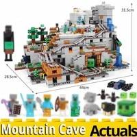 legoinglys Minecrafts 2304PCS Mountain Cave Building Blocks Brick Toys compatible my world 21137 model brinquedos christmas Gift