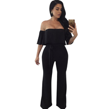 New hot womens jumpsuit fashion sexy strapless tube top black