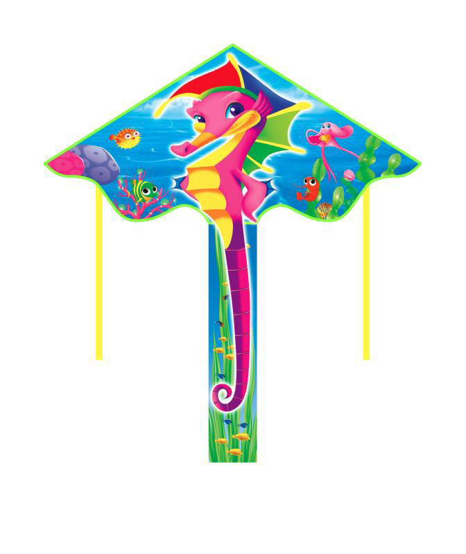 Outdoor Fun & Sports Realistic New Arrive Outdoor Fun Sports 55 Inch Sea Horse Kite /kites With Handle And Line For Kids Gifts Good Flying To Be Distributed All Over The World