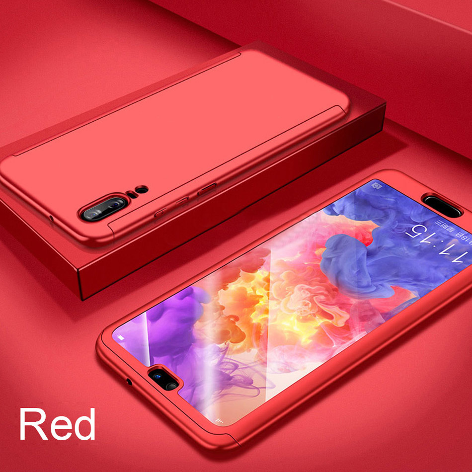 360 Full Cover Luxury Case For Huawei P20 Pro Mate 10 P10 Lite Back Case For Huawei Honor 10 8 9 Lite Shockproof Case + Glass