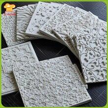 Текстура конструкции кружева силиконовые формы для украшения торта сахарной пасты формы
