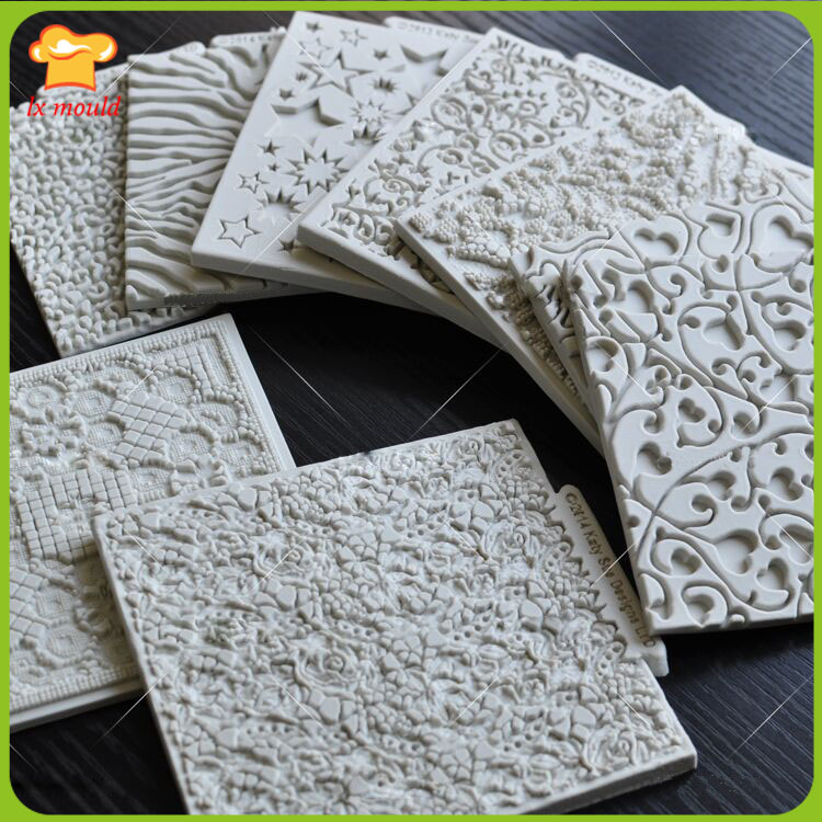 10 optional high quality double sugar dry pace mechanism model Grain sugar silicone mold cake lace molds