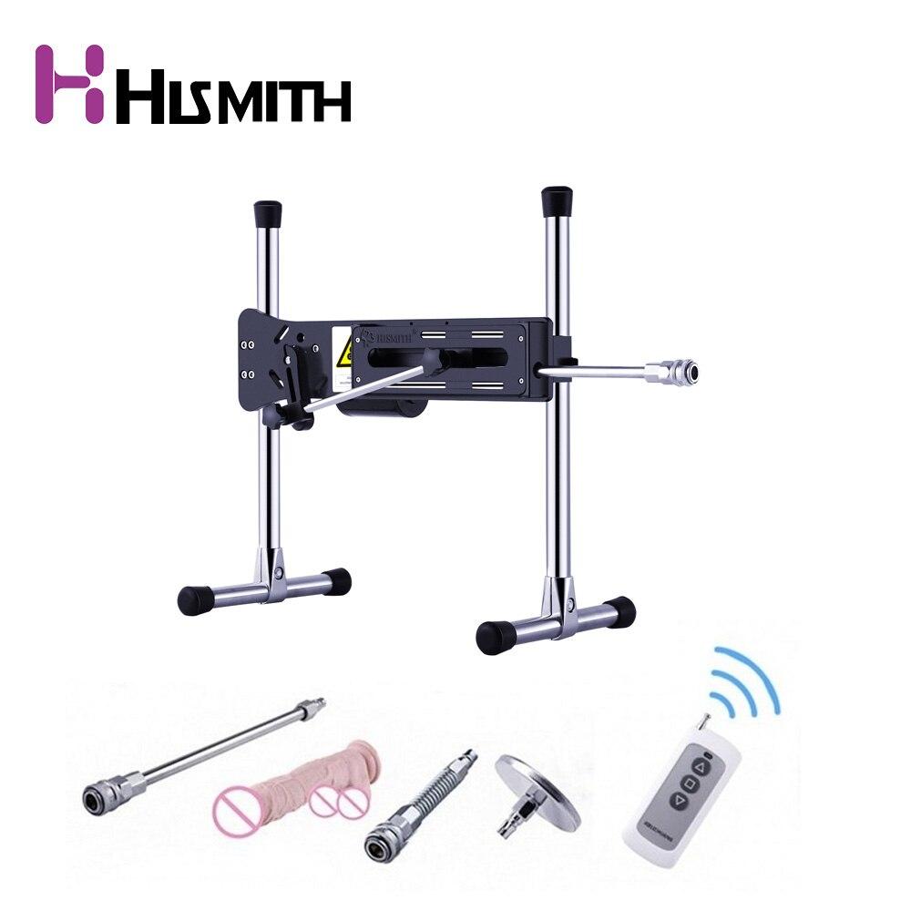 Hismith Extremamente Silencioso Premium Sex Machine Com Controle Remoto 120W Turbo Potência do Aparelho de Alta Qualidade Máquina Automática Vibrador