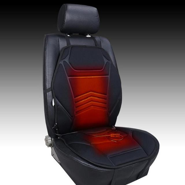 Universal Dc12v Ed Car Front Seat Warmer Winter Warming Cushion Office Chair Heating Cover Hot Pad
