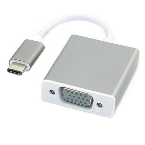 Aluminum Usb C To Vga Adapter 3 1 Usb Type C To Hdmi