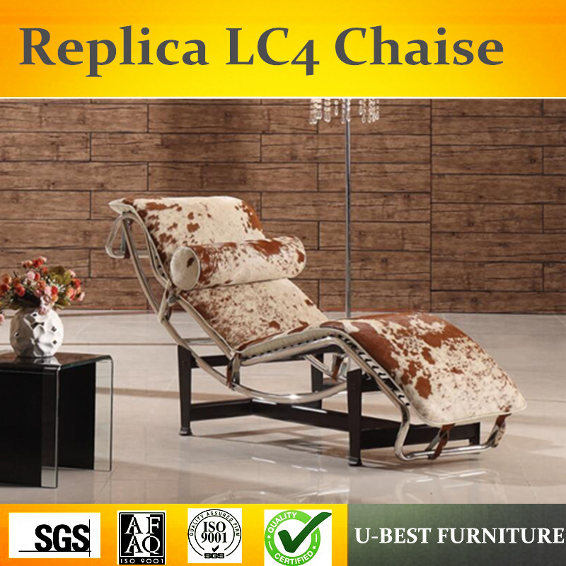 U-BEST Replica LC4 lounge chair with pony leather,Modern design back-rest armchair lounge chair piano lounge mp3
