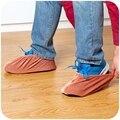 1 Pares Reutilizáveis Flannelette Interior Sapatos Cobrir Sapatos À Prova de Poeira Tampa Sólida-resistente ao Desgaste