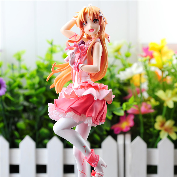 ФОТО New! Sword Art Online 2 figure Asuna doll SAO Asuna  PVC 20cm 1/8 scale figure toy anime sexy girl free shipping