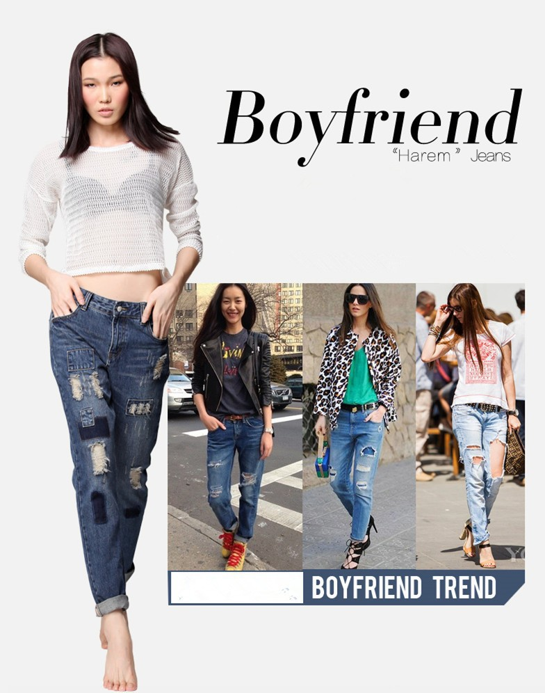 Aliexpress.com : Buy Distressed Jeans Ripped Women Boyfriend Jeans ...
